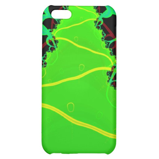 Fractal Art in Green and Black Case For iPhone 5C