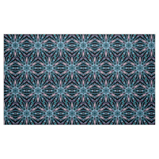 Fractal Art Material Blue Design by Artful Oasis Fabric