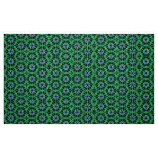 Fractal Art Material Green Design by Artful Oasis Fabric