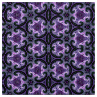 Fractal Art Material Pink Design by Artful Oasis Fabric
