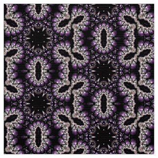 Fractal Art Material Purple Design by Artful Oasis Fabric
