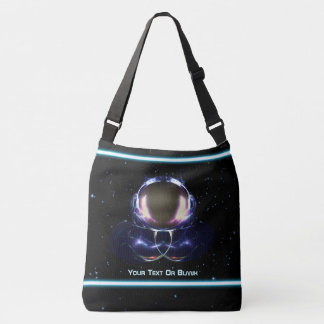 Fractal Astronaut Crossbody Bag