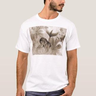 Fractal Background 3D Mermaid Brown T-Shirt