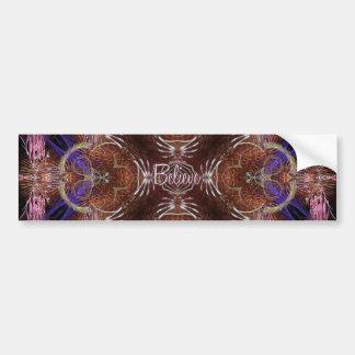 fractal-believe bumper sticker