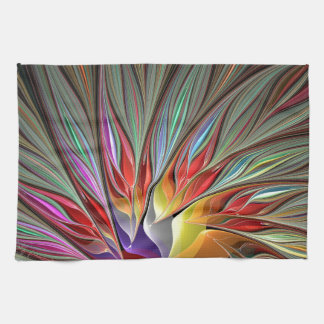 Fractal Bird of Paradise Kitchen Towel