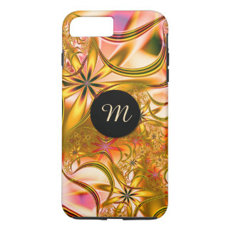 Fractal Blossoming Gold Monogram iPhone 8 Plus/7 Plus Case
