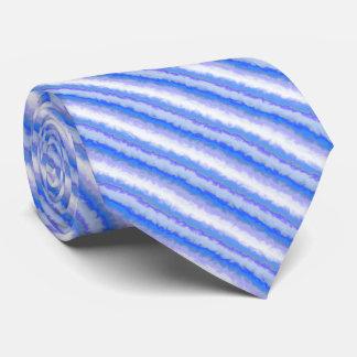 Fractal Blue and Purple Diagonal Stripes Tie