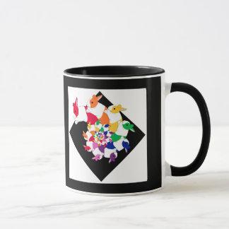 Fractal Bunnies 11oz Ringer Mug