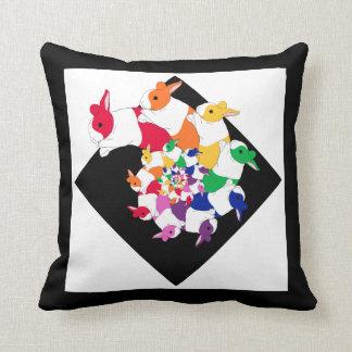 Fractal Bunnies Square Pillow