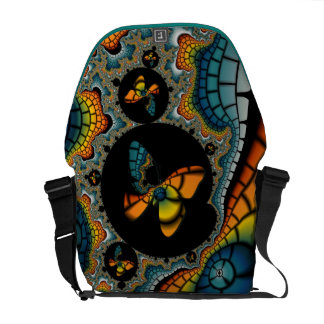 Fractal Butterfly Cacoon Messenger Bag