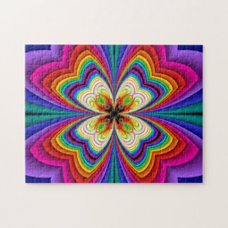 Fractal Butterfly Rainbow Puzzle