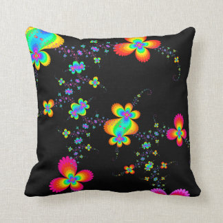 Fractal Butterfly Trails Throw Pillow