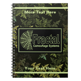 Fractal Camouflage Systems Logo Notebook