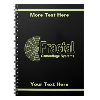 Fractal Camouflage Systems Logo Notebooks