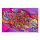 Fractal Candy Sky Abstract Art Poster