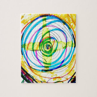 Fractal Cartoids Crosses and the Spiral Band by Lu Jigsaw Puzzle