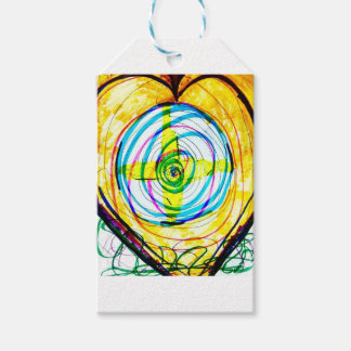 Fractal Cartoids Crosses and the Spiral Band by Lu Pack Of Gift Tags