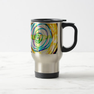 Fractal Cartoids Crosses and the Spiral Band by Lu Travel Mug