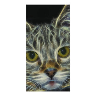 Fractal Cat Picture Card