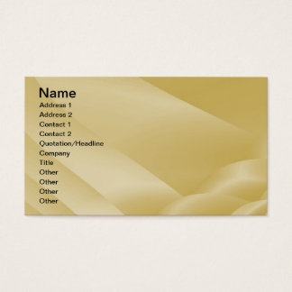 Fractal Champagne Satin Ribbons  Business Card