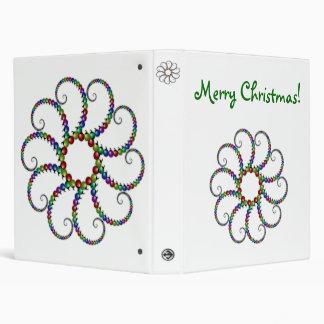 Fractal Christmas Ornaments Binder