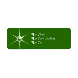Fractal Christmas star Return Address Label