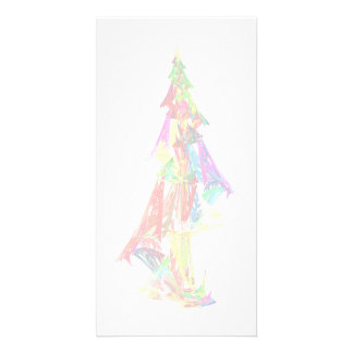 Fractal - Christmas Tree Personalized Photo Card