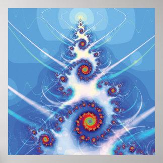 Fractal Christmas Tree Poster