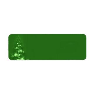 Fractal Christmas tree Return Address Label
