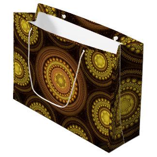 Fractal Circles Large Gift Bag