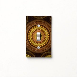 Fractal Circles Light Switch Cover