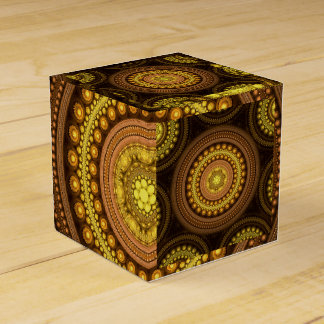 Fractal Circles Party Favor Boxes
