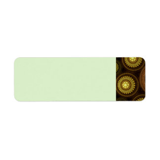 Fractal Circles Return Address Label