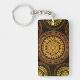 Fractal Circles Single-Sided Rectangular Acrylic Keychain