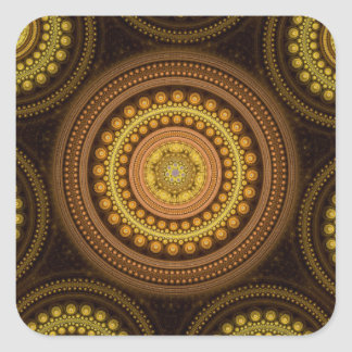 Fractal Circles Square Sticker