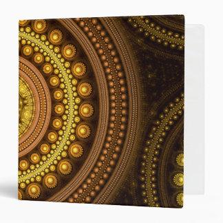 Fractal Circles Vinyl Binder