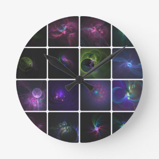 Fractal collection round clocks