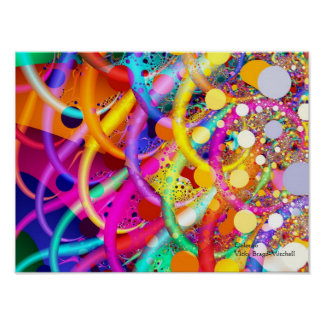 Fractal Color 10 Abstract Art Poster