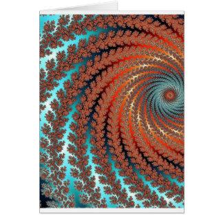 Fractal Color Image Card