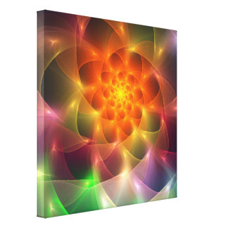 Fractal Color Vortex Canvas Print