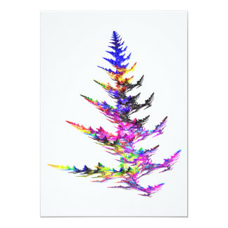 Fractal - Colorful Christmas Tree Invite