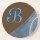 Fractal Corner Series-14 Teal Brn coaster--1 of Coaster