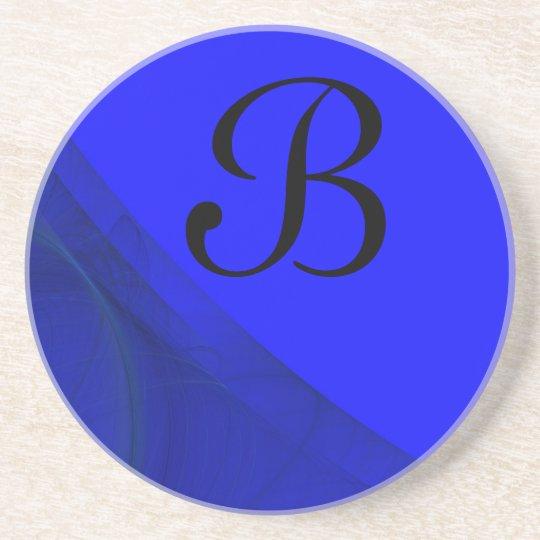 Fractal Corner Series-7-Blue coaster--1 of Coaster