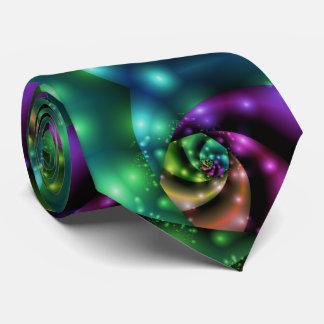 Fractal Cosmic Rose Tile Tie