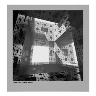 Fractal Cube Poster