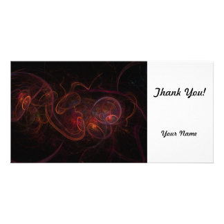 Fractal Dark Red Photo Greeting Card
