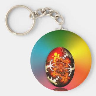 Fractal Design Easter Egg Basic Round Button Keychain