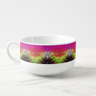 Fractal Diamond Heart Soup Mug