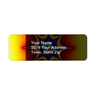 Fractal Emblem - Fractal Art Return Address Label