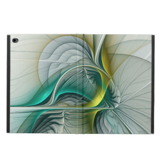 Fractal Evolution, Golden Turquoise Abstract Art Powis iPad Air 2 Case